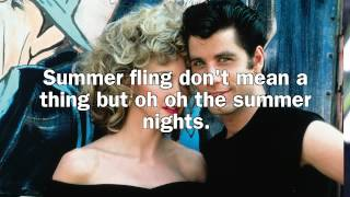 Grease - Summer Nights lyrics (Lyric Video)