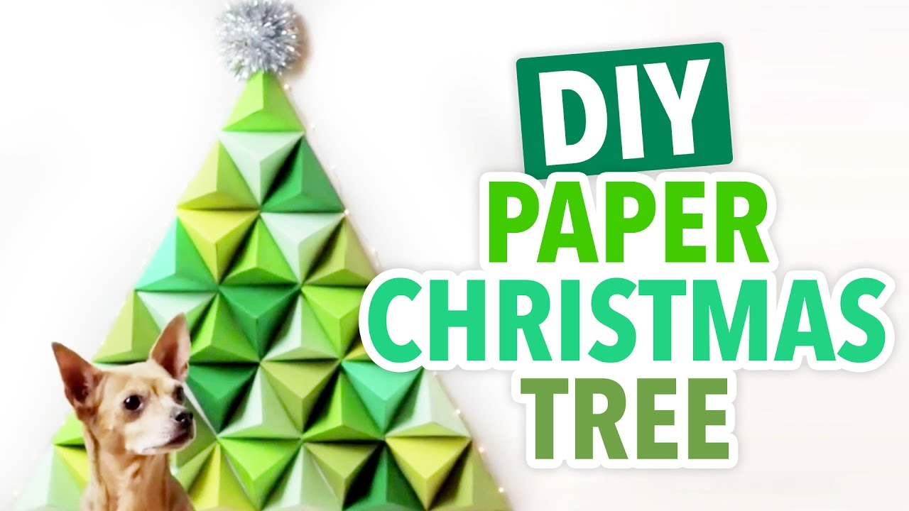 DIY 3D Geometric Paper Christmas Tree  HGTV Handmade   YouTube