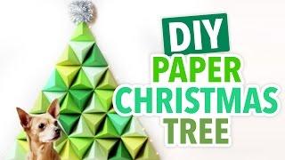 3D Geometric Paper Christmas Tree- HGTV Handmade