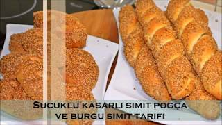 Simit pogça ve burgu simit tarifi