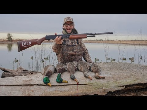 Pump Action .410 Solo Duck Hunt Challenge!! (Mallards And Spoonies))
