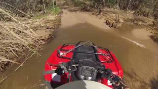 Vid #77 - riding the Sycamore Creek on a 2016 Honda Rancher 4x4 DCT EPS