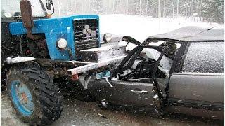 Подборка ДТП аварий с участием трактора МТЗ / accidents involving tractor