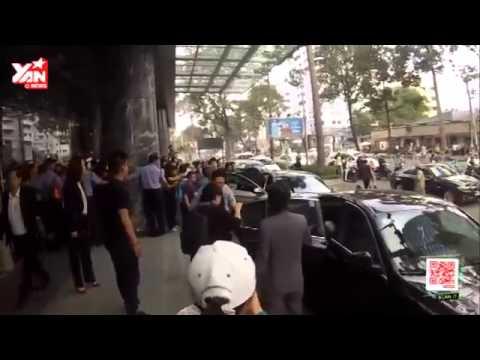 T-Ara bị fan vây kín trước khách sạn Pullman 9/1/2015