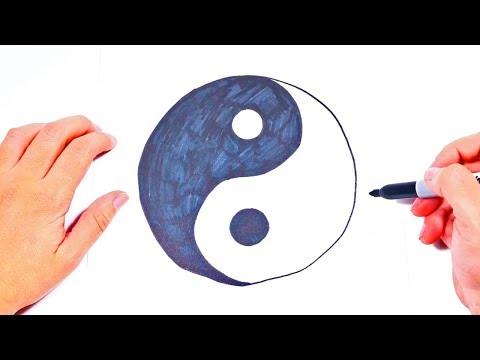 Cómo dibujar elSimbolo de Ying Yang | Dibujos Fáciles