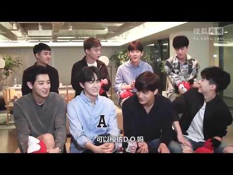 Baekhyun imitating the members voice