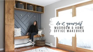 DIY Mudroom & Home Office Makeover For My Dad!
