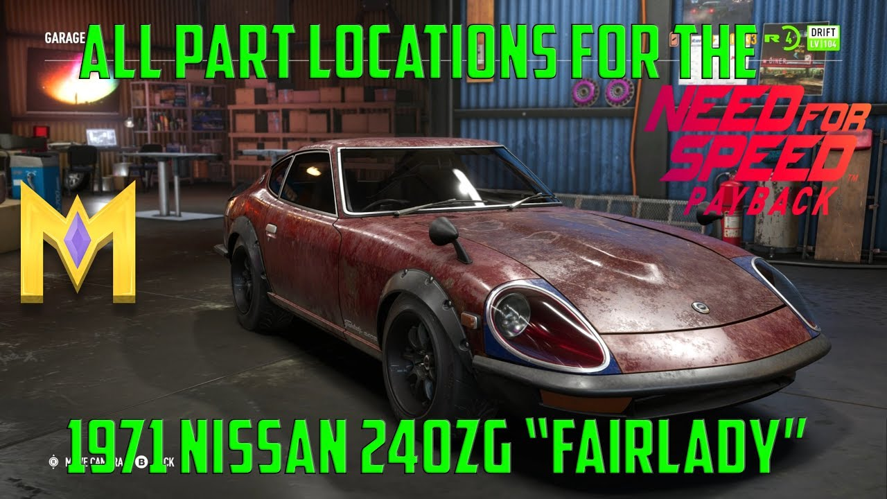 Need for Speed Payback - Derelict Car Part Locations - 1971 Nissan ...