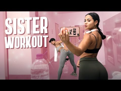 WORKING OUT WITH MY SISTER! | Katya Elise Henry