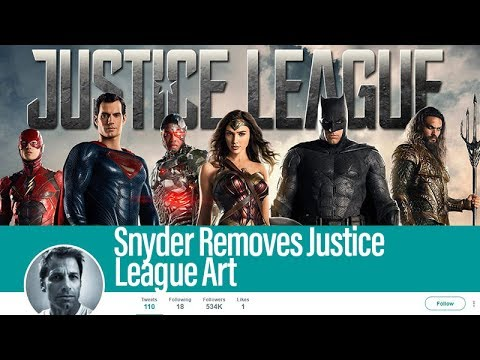 Zack Snyder Removes Justice League Art From Twitter Page