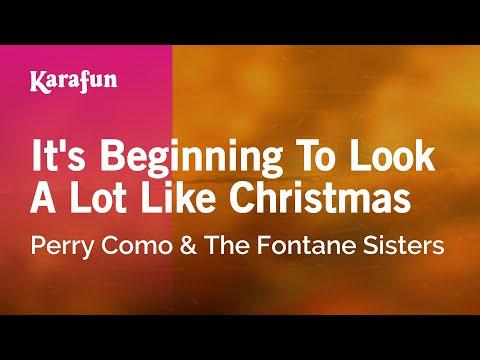 Karaoke It's Beginning To Look A Lot Like Christmas - Perry Como *