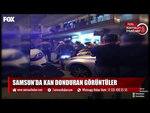 Samsun'da kan donduran görüntüler