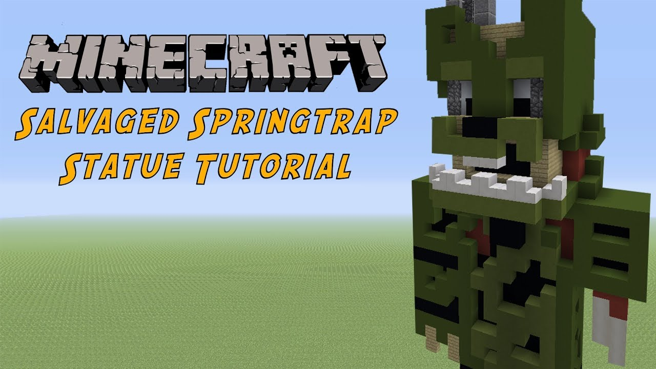 Minecraft Tutorial: Salvaged Springtrap (FNAF 6: Freddy