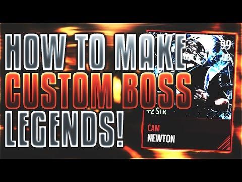 HOW TO MAKE CUSTOM BOSS LEGEND CARDS! TUTORIAL + TEMPLATE! | Madden Mobile 17