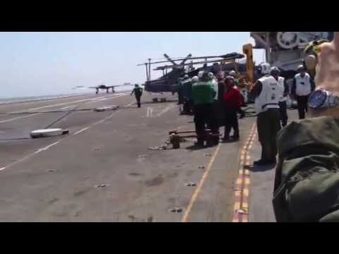 X-47B Makes History With Successul Arrestment Landing on USS George H.W. Bush