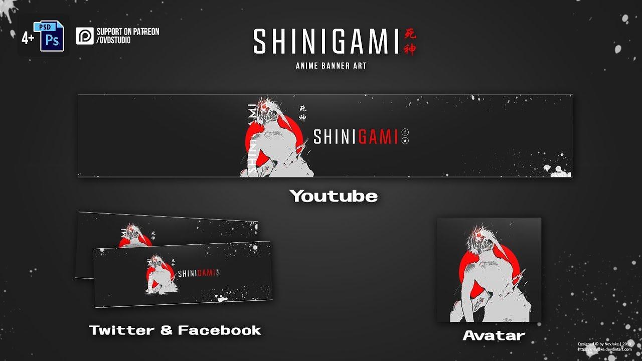 Free Anime Banner Template - Shinigami 《黑色死神》