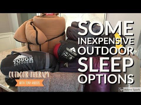 My Inexpensive Outdoor Sleep Options