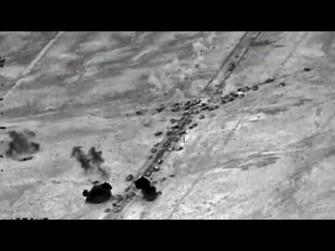 U.S. airstrikes hit ISIS convoys