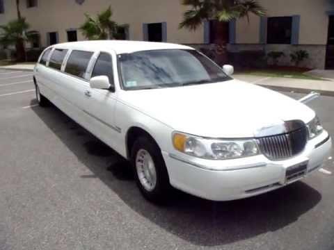 Daytona Beach Limo White Lincoln Town Car Limo Youtube