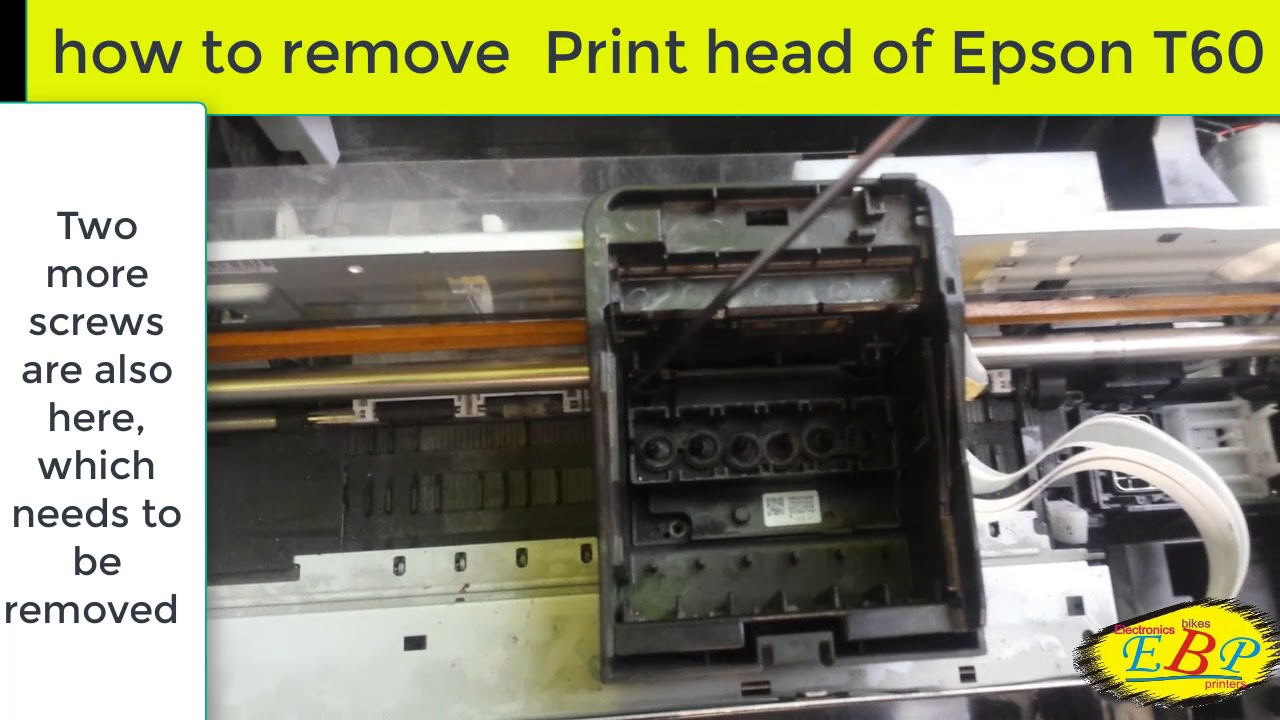 How to remove the head Epson 75
