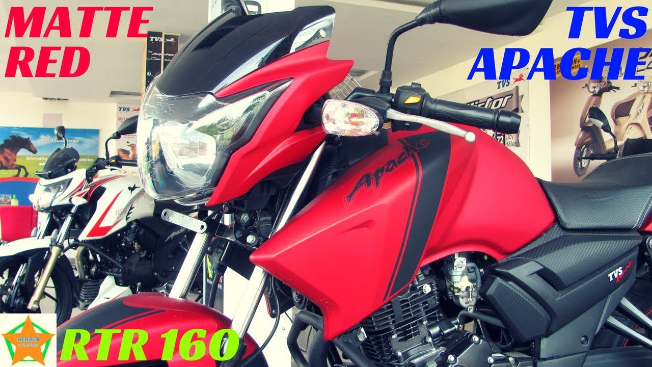 2018 MATTE RED EDITION TVS APACHE RTR 160 WALKAROUND, FULL DETAILS REVIEW |  PRICE,FEATURES,ETC