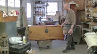 Restoring the Lid of an Antique Blanket Chest - Thomas Johnson Antique Furniture Restoration