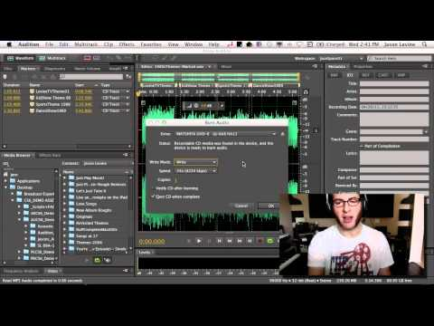 How To Burn an Audio CD in Adobe Audition CS6