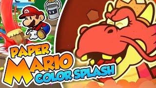 ¡El Dragón hamburguesero! - #36 - Paper Mario Color Splash (Wii U) en Español