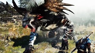 Witcher 3: Morvudd the Fiend Boss Fight (Hard Mode) (4K 60fps)
