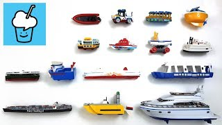 Sea vehicles for children kids with tomica トミカ lego robocar siku