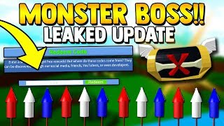 MONSTER BOSS! (Feux d'artifice, code, secret?) | Construire un bateau pour Treasure ROBLOX -LEAKED
