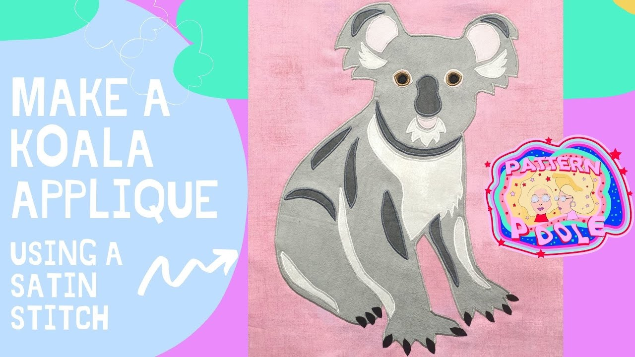 See how we made our Kev the Koala using satin stitch.
