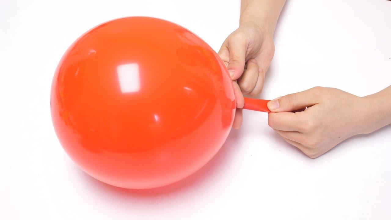 今天才知道,原来气球打结还有这个小技巧,一秒一个,太省力了