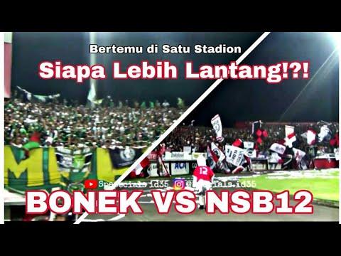 Adu Chant Bonek vs Nord Side Boys 12 di sisi Utara Stadion I wayan Dipta | Bali united vs Persebaya