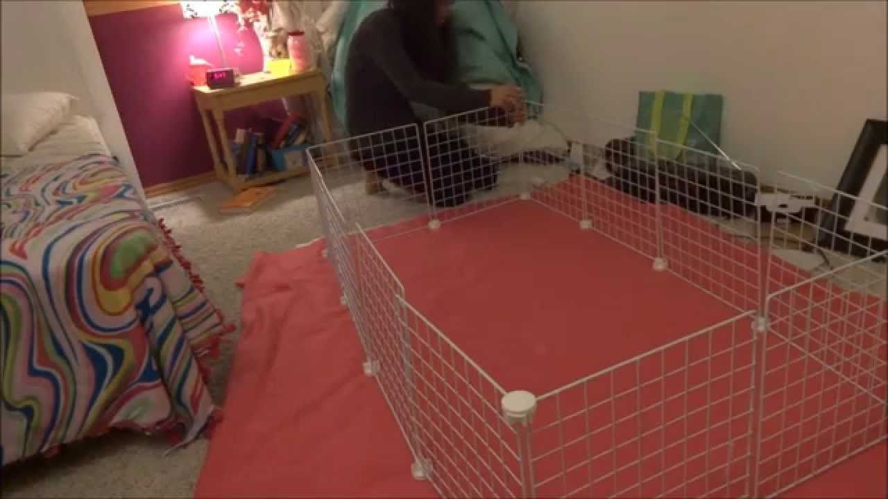 how to make a c c cage with a shower curtain youtube