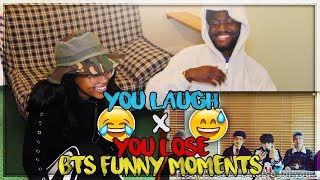 BTS - YOU LAUGH YOU LOSE CHALLENGE! (BTS REACTION) MP3