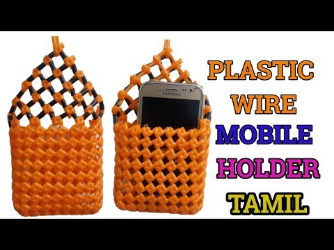 Tamil- Plastic Wire Mobile holder Tutorial for beginners