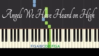 Easy Piano Tutorial: Angels We Have Heard on High with free piano sheet music