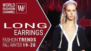 Cover images Long earrings | Fashion trends fall winter 19/20