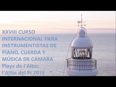 CURSO INTERNACIONAL PARA INSTRUMENTISTAS L'ALFAS DEL PI   VIDEO