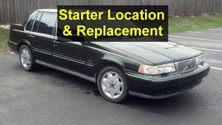 Starter replacement, Volvo S90, 960, V90, etc. - VOTD