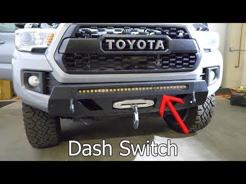 LED Light Bar install + Dashboard switches on 2018 Toyota Tacoma