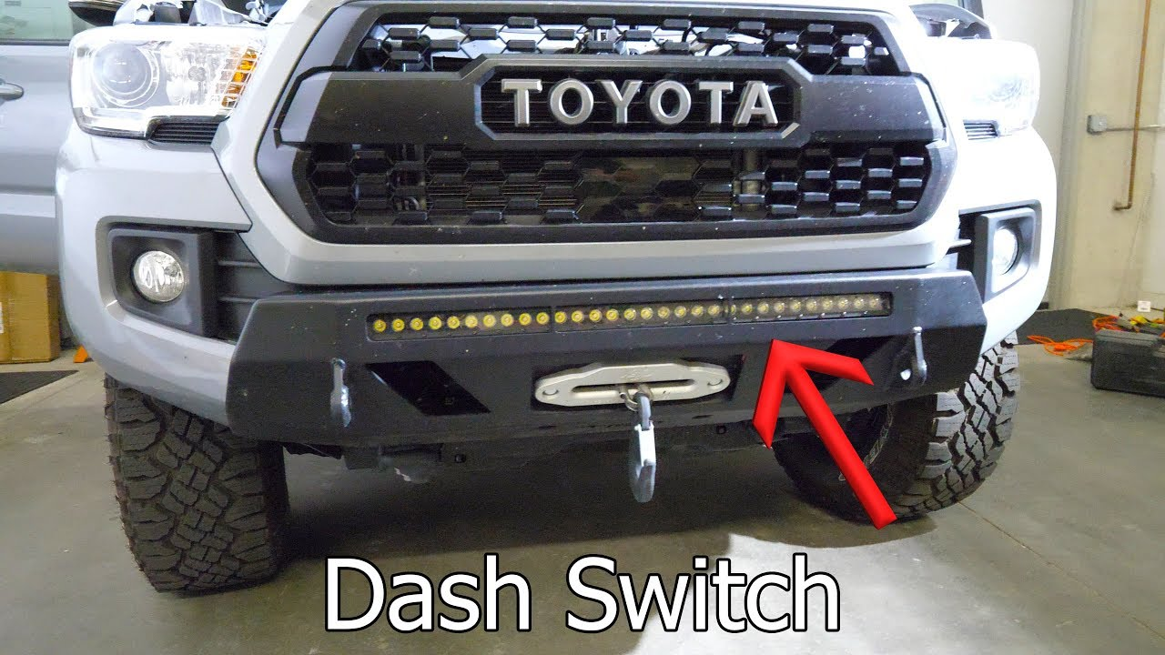 led light bar install dashboard switches on 2018 toyota tacoma [ 1280 x 720 Pixel ]