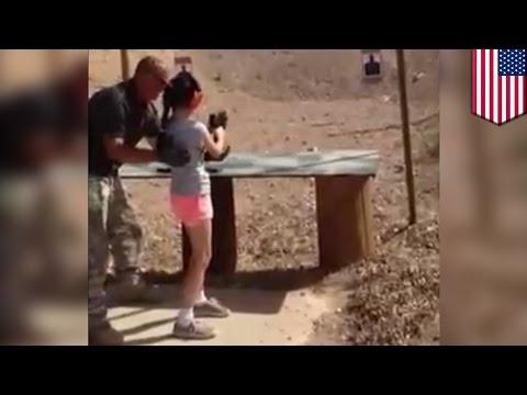 9歳少女が銃を誤射し大人死亡