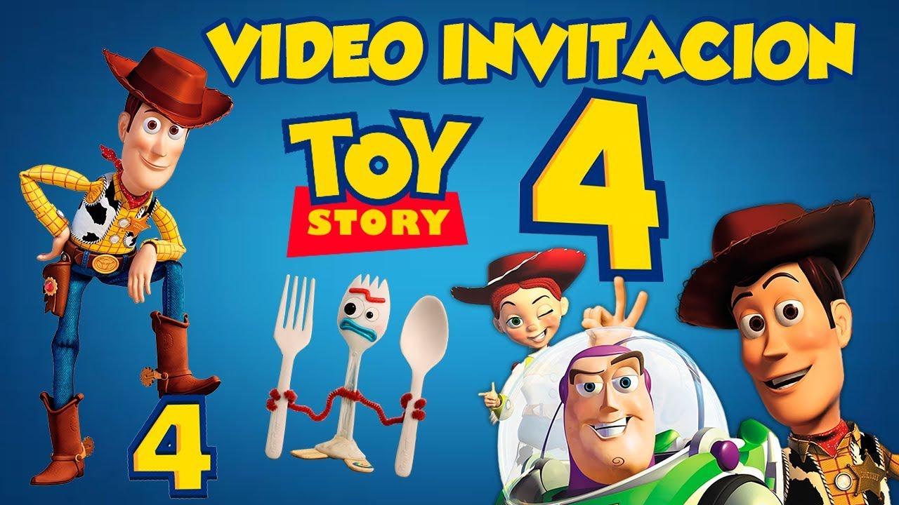 Toy Story 4 Disney Pixarvideo Invitacion Animada