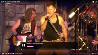 Iron Maiden Blood Brothers Wacken 2016  with announcement