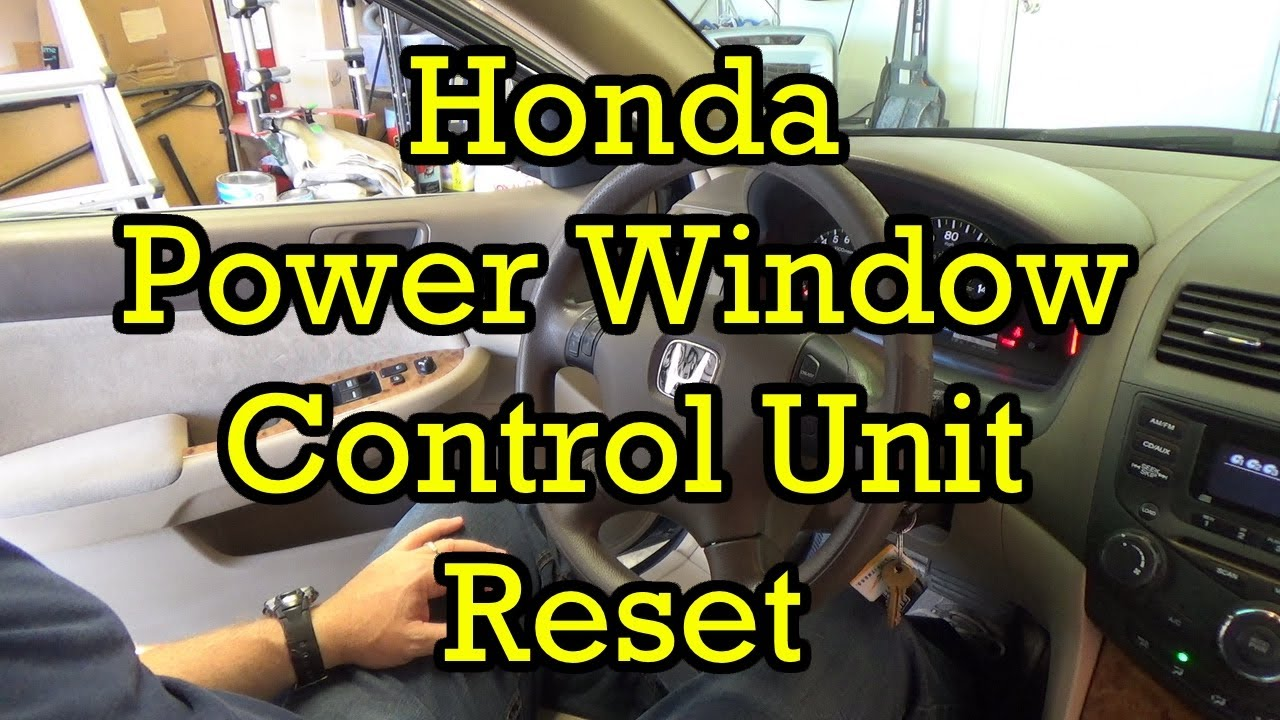 Honda Power Window Control Unit Reset on