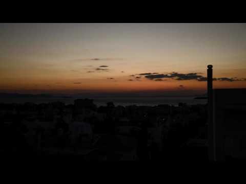 Sunset near Athens Timelapse