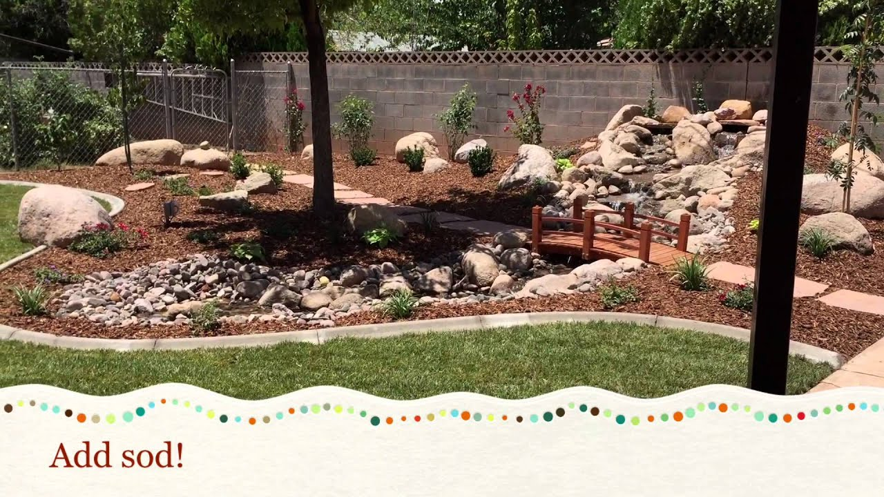 pondless waterfall and stream with backyard makeover youtube