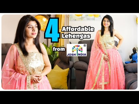 4 Stylish Lehengas From Josh India   Affordable Party/Function Lehengas ~ Home 'n' Much More
